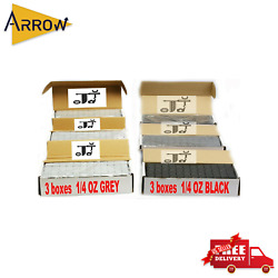 6box 1/4 Oz Gray And Black Wheel Weights Stick-on Adhesive Tape 54 Lbs Lead-free