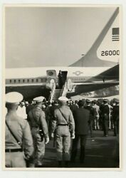 1963 President John F. Kennedy Berlin Trip Deplaning Air Force One Wire Photo