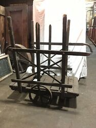Large Vintage Medieval Monte Python Factory Cart Heavy Duty Industrial Antique