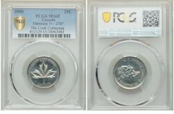 Error - 2000 Canada 25 Cents Harmony Pcgs Ms-65 With A 270 Degree Die Rotation