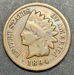1894/94 Overdate Indian Head Penny Ddo Double Die Obverse