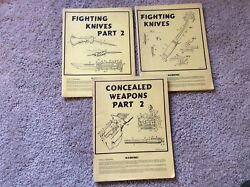 3 Book Cashier Publications Lot Concealed Weapons 2 Fighting Knives Parts 1 2