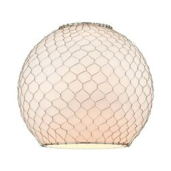 Innovations Large Farm Wire 10-lt Glass Frosted Sphere - G121-10csn