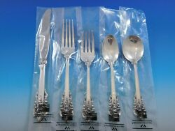 Grande Baroque By Wallace Sterling Silver Flatware Set Service 40 Pieces New