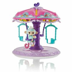 Wowwee Fingerlings Playset Twirl-a-whirl Carousel With 1 Fingerlings Baby...