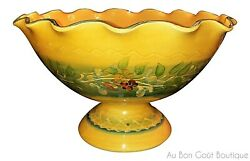 Souleo, Terre è Provence, French Provence Large French Pedestal Fruit Bowl, New