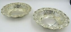 Pair Of Antique Sterling Silver Bon Bon Dishes - Sheffield 1898 Fenton Brothers