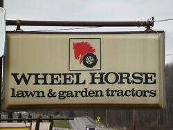 Vintage Wheel Horse Lighted Dealer Sign 6and039 X 3and039 Original Not A Reproduction