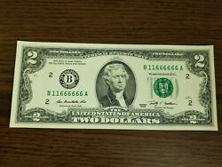 2 Dollar Federal Reserve Note 2009 Series Almost Solid