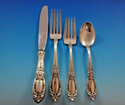 King Richard By Towle Sterling Silver Flatware Set For 12 Service 48 Pieces