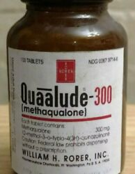 Vintage Medicine Hand Crafted Bottle W/blk Lid Quaalude Rorer Empty Copy