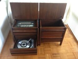 GE End table stereo & matching record storageextension speaker NO SHIPPING