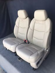 2016 2015 Escalade Front Seats Shale Tan Leather