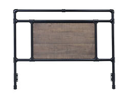 Glenwillow Home Exmore Metal Headboard In Matte Black Or Antique Brass
