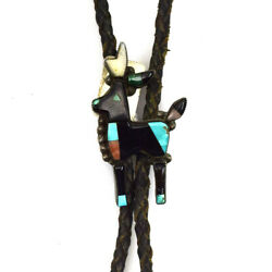 Zuni Multi-stone Bolo Tie With Matching Tips - Attributed To Bowman Paywa