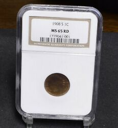 1908-s Indian Cent - Ngc Ms65rd 29846