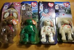 Rare Lot Of 4 Ty Beanie Babies Ronald Mcdonald Charities All 4 With Tag Errors