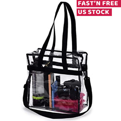 Clear Tote Bag Transparent Handbag Shoulder Backpack Purse NFL Stadium Approved $9.98