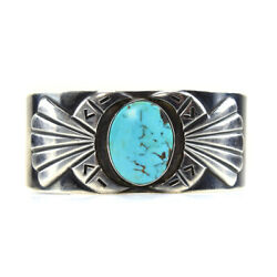 Hopi Turquoise And Silver Bracelet, C. 1950s, Size 6.75