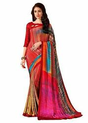 Red Designer Bollywood Saree Party Wear Indian Pakistani Sari
