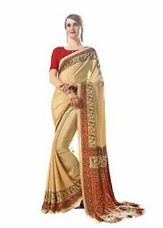 Bollywood Designer Party Wear Indian Crepe Saree Sari 10