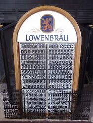 Lowenbrau Beer Menu/message Board Sign Nos W/3 Set's Letters,numbers And Symbols