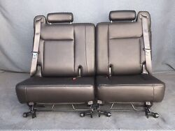 2008-2009 08 09 Hummer H2 Black 3rd Third Row Leather Seats Seat