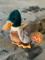 🦆 Jake The Duck Beanie Baby. 97/98 Errors, Rare Stamp. In Excellent Condition🦆