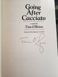 Tim Oand039brien Going After Cacciato Signed 1987 Hcdj 1st.2nd Book Event Signed