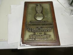 J.i. Case Recognition Plaque Case Machinery And039old Abeand039. Case Eagle