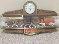 1970's Vintage/antique Budweiser Illuminated Clydesdale Two Sided Bar Clock
