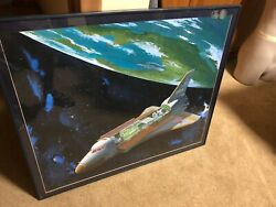 Nasa Space Shuttle Artwork Signed By Crews