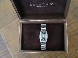 Bedat And Co. No.3 Diamond Bezel Stainless Steel Ladies Watch.