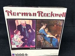 Norman Rockwell Doctor And Doll Bedtime 1000 Piece Jigsaw Puzzle Rare New Sealed