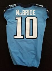 10 Tre Mcbride Of Tennessee Titans Nfl Locker Room Game Issued Jersey