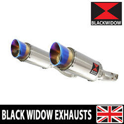 Z1000 Z 1000 Sx 10-19 4-2 Exhaust Silencers Round Stainless And Blue Tip Sl20r