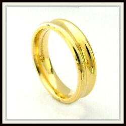 18 Kt Solid Yellow Gold Custom Made Wedding Band For Men And Ladies / De 0017 /
