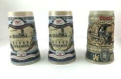 Lot Of Beer Steins 2 Miller High Life River Steamer And 1 Coors 1989 Beer Truck