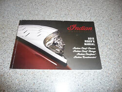Indian 2015 Riderand039s Manual Chief Classic Vintage Chieftain Roadmaster