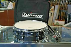 CLEAN Vintage LUDWIG Black SNARE With Case