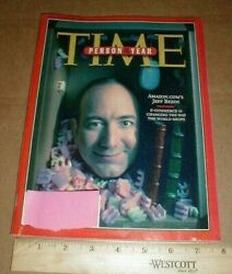 December 1999 Time Magazine Person Of The Year Businessman Jeff Bezos