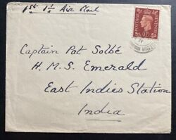 1930 Wigtown England First Flight Airmail Cover To East Indies Station India