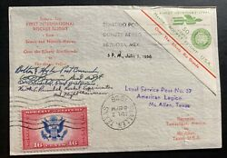 1936 Reynosa Mexico First Rocket Flight Airmail Cover To The Silvery Rio Grande