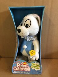 Here Comes Peter Cottontail Jumping Bunny Rabbit Plush Gemmy New Boxed