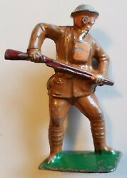American Metal Co. Lead Toy Soldier Rare Am26 Gas Mask Bayonetingbarclay Manoil