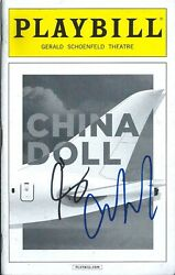 Al Pacino And Christopher Denham Signed China Doll Playbill. Godfather Scarface