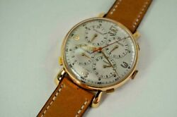 Komet Esquinas Tantos 5 Time Zone Watch Pink Gold Plated And Steel 38 Mm C. 1950and039s