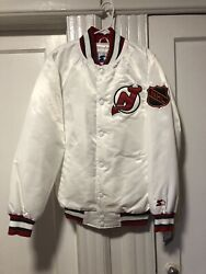 New Jersey Devils Starter X Packer Shoes Jacket Nhl White Limited 334 Small
