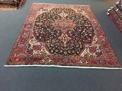 On Sale Unique Genuine Hand Knotted Vintage Herizz Area Rug Geometric 8x10,1626