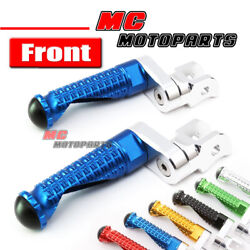 Cnc Extended Mpro Front Foot Pegs Footrest For Kawasaki Zx10 Zrx 1200 Z1000 Sx